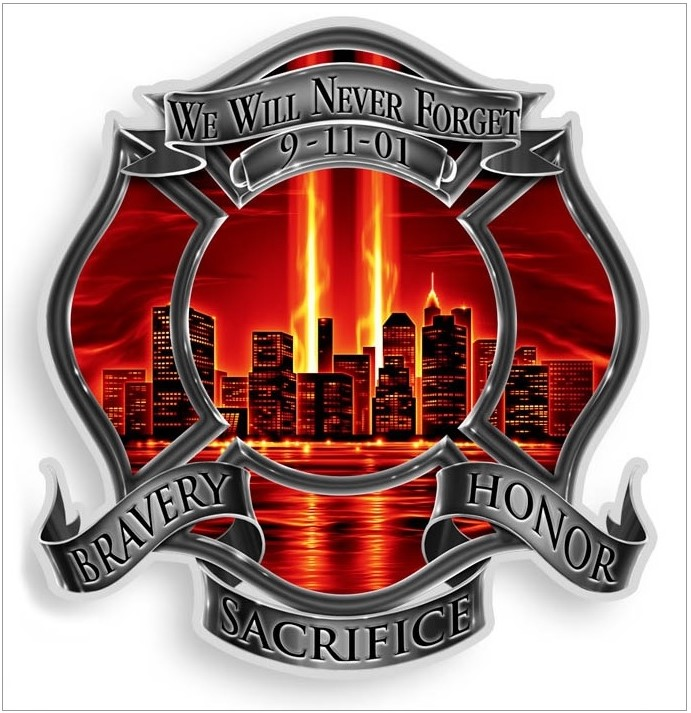 9-11 Never Forget - Red Sky